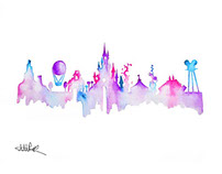Watercolour Skylines