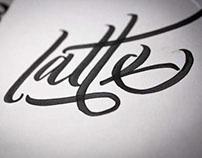 Latte Art lettering poster