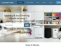 Web Design: Cleaner's Box. A site for dry cleaners