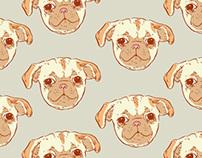 Pug Puppy Pattern