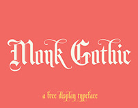 MONK GOTHIC - FREE FONT