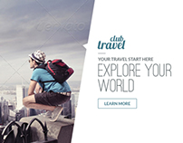 Travel - Vacation Web Ad Marketing Banner