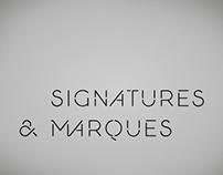 Signatures et marques