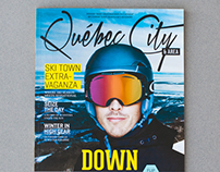 Downhill/Downtown Double Cover Magazine for Québec City