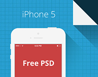 Free PSD. iPhone 5