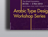 Arabic Type Design Workshop Series | Poster Design