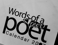 words of a street poet calendar