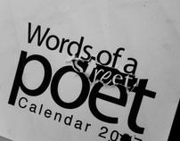 words of a street poet calendar