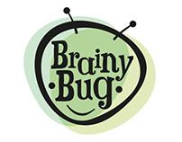 BrainyBug branding and packaging