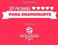 CAMPAÑA 20 RAZONES PARA ENAMORARTE
