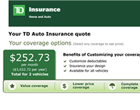 TD Canada Trust Insurance Quoter