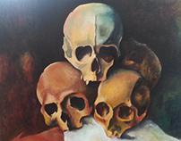 Cezanne Skulls in acrylic