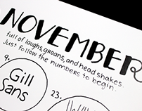 2015 the Write Way (Type Calendar)