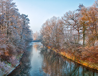 Cold winter - warm colors