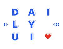 Daily UI 81-100