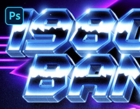 [PSD] 80S LOGO and TITLE STYLE