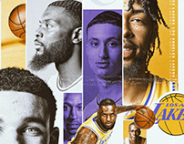 New Look Los Angeles Lakers - NBA Art Exploration