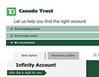 TD Account Recommendation Tool