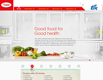 smart kitchen Website design concept