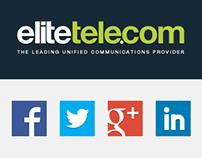 Elite Telecom's Social Media Presence Rebrand