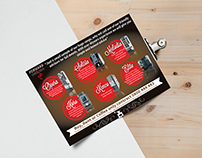 Leaflet for Forward Vending & Catering