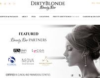 DirtyBlonde Beauty Bar - Layout
