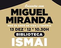 ENCONTRO COM MIGUEL MIRANDA - Poster Design