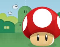 Ilustração para botons e quadros Super Mario Bros