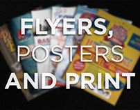 Flyers, Posters and Print