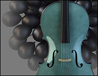 Wind Instruments And A Cello ~ 3D CGI