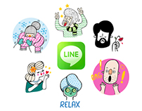 LINE Stickers - A Funny Crew