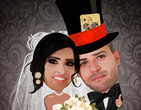 Wedding Card Caricature