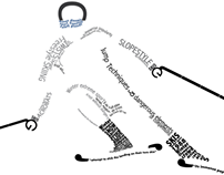 Type as Image - Freestyle Skiing