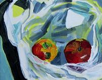 apples in a foil bag