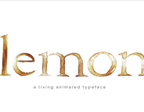 Lemon – A Living Animated Typeface