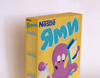 Yammy cereal box design
