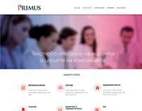 Primus website