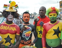Following soccer Fans in Ghana!