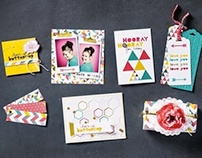 'Kaleidoscope' paper and stamp set design