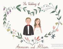 Wedding invite and RSVP
