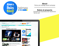 Campaña del rediseño de la página: www.telmex.com