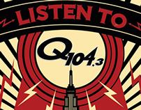 Q104.3 FM Illustrated Ad
