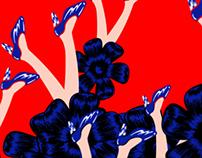 """""""DES FLEURS SUR LE NOIR"""" NUNA ART PROJECT FILM.2014"""