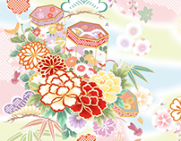 Flower pattern of Japan