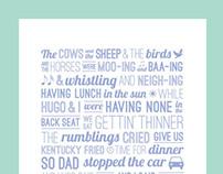 KFC Jingle Typographic Print