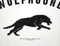 Black Running Wolfhound
