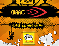 Event branding for MAAC @ COMIC CON 2014