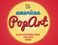 American pop art exhibition.