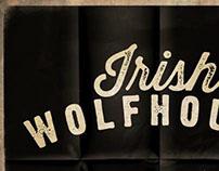 White Running Wolfhound
