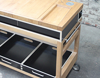 Mobile kitchen counter